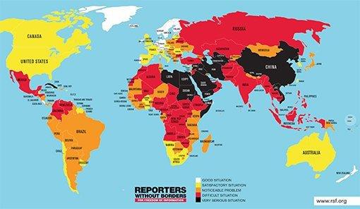 Türkiye basın özgürlüğü listesinde 154. sırada