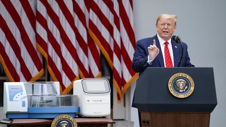 Trump gazeteciyi azarlayıp basın toplantısını terk etti