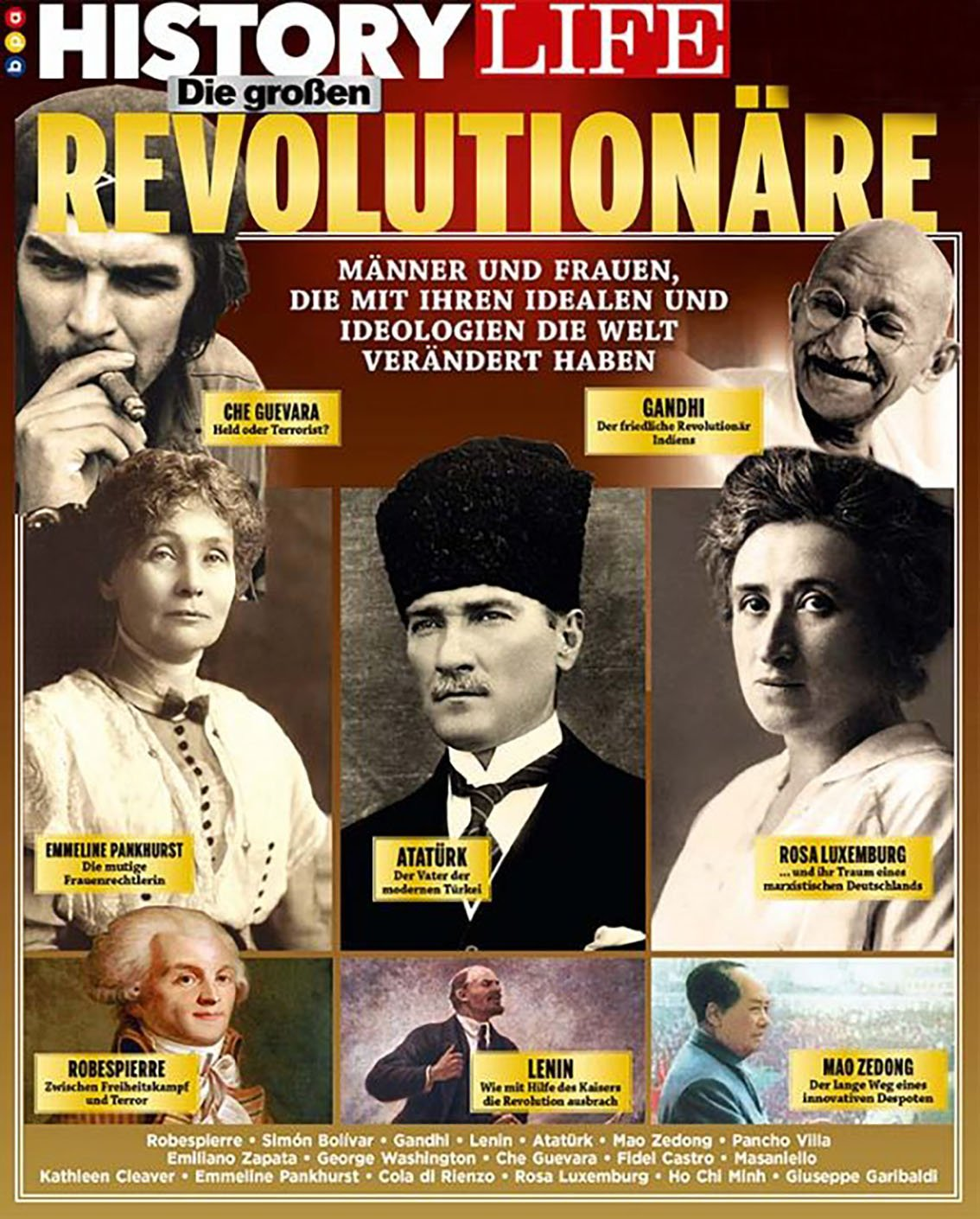 En büyük devrimciler listesinin merkezinde Atatürk var
