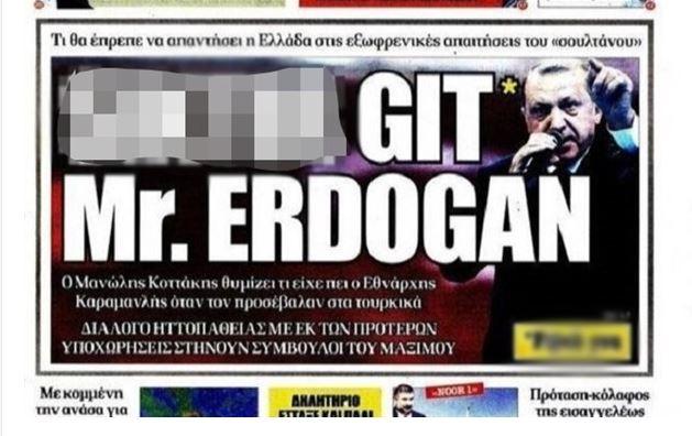 Erdoğan'dan Yunan gazetesi hakkında suç duyurusu