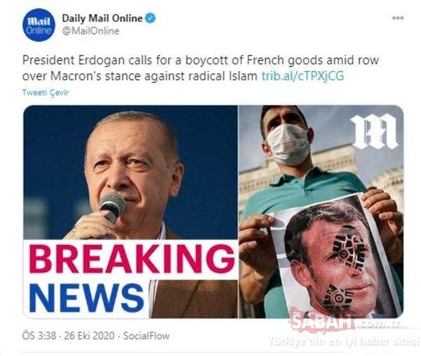 Dünya basınında Macron-Erdoğan gerilimi