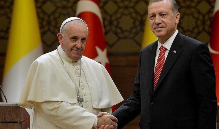 Erdoğan Papa'yla Filistin'i konuştu