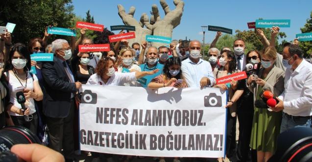 Basın örgütlerinden polis şiddetine karşı eylem