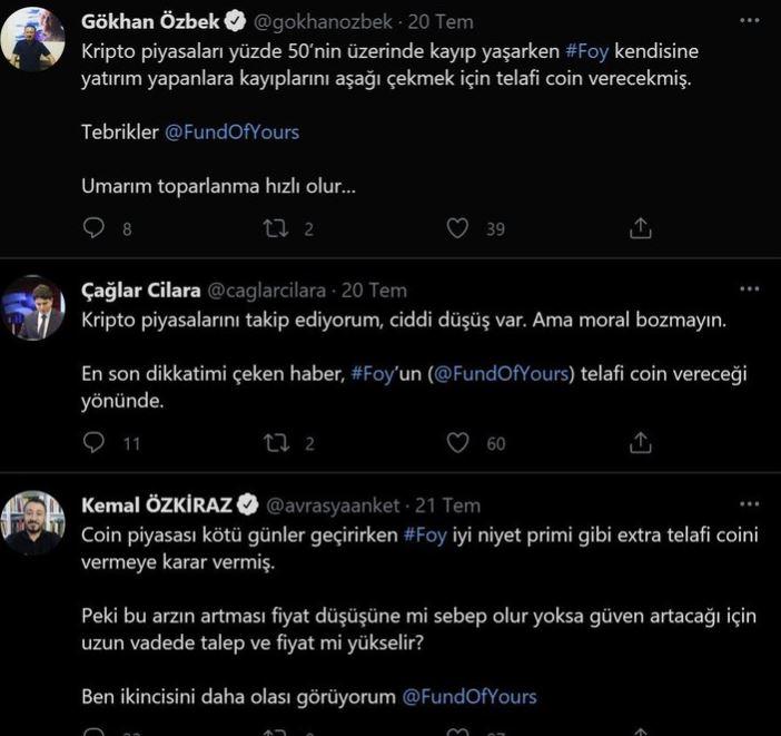 Sosyal medyada kripto para reklamı yapan gazeteciler – Faruk Bildirici